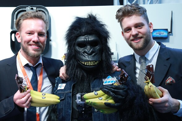 Oliver Klute (General Manager), Mr. Gorilla (CEO GORILLA TRAPS), Daniel Schroeer (General Manager)